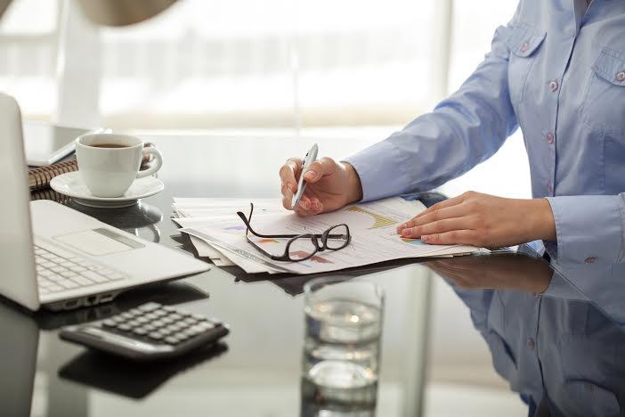 Businessperson working in office